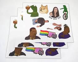 Meme Stickers - meme etsy