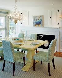 Beachy Dining Room painted dining table dining room beach with aqua coastal coral