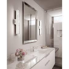Chrome Bathroom Furniture by Feiss Lighting Jessie Chrome Led Vertical Bathroom Light