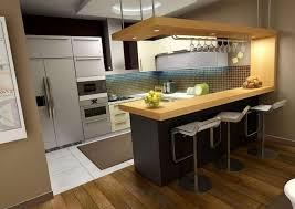 Small Breakfast Bar Table Kitchen Room Design Kitchen Small Space Brown Wod Breakfast Bar