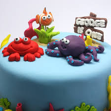 under the sea cake tutorial octopus crab starfish u0026 clownfish