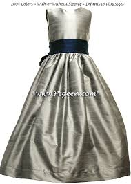 medium gray and marine blue navy flower dresses pegeen