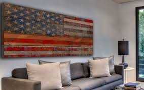 wall design ideas usa reclaimed wooden american flag wall
