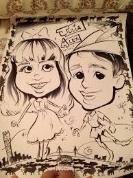 caricature drawing bring disney magic
