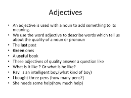 adjectives in sentences how to use a adjective in a sentence claudiubita