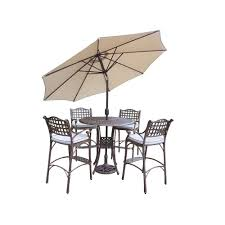 Patio Dining Sets With Umbrella Outdoor Dining Furniture At The Home Depot