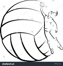 volleyball player volleyball background stock vector 148442756