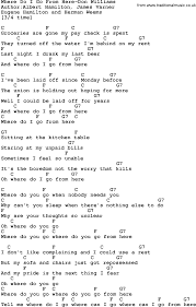country where do i go from here don williams lyrics and chords