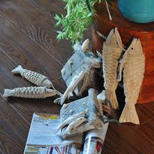 fish decorations for home online shop mediterranean antique decorated handicrafts wooden