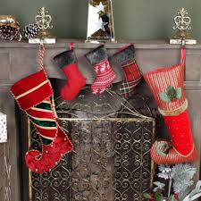 elf colourful velvet christmas stocking collection by dibor