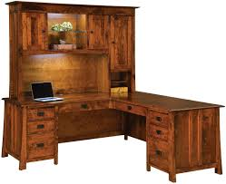 Queen Anne Secretary Desk by Dresden L Shaped Desk With Hutch Countryside Amish Furniture