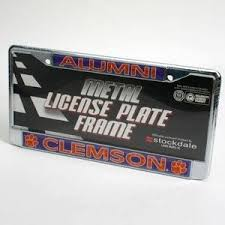 sdsu alumni license plate frame clemson tigers alumni metal license plate frame w