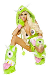 Halloween Costumes Stores Green Eyed Monster Romper Costume Amiclubwear Costume