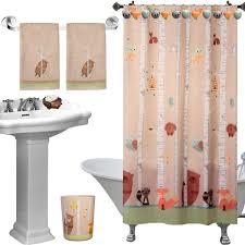 Cute Shower Curtain Hooks 6pc Set Unique Cute Forest Friends Complete Bathroom Accessories
