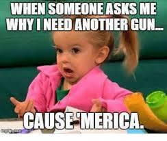 Merica Meme - when someone asks me whyineed another gun cause merica guns meme