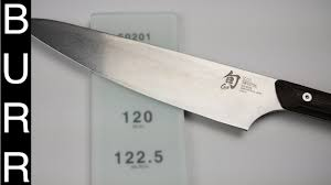 how to sharpen shun kanso chef knife youtube