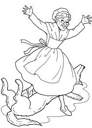 red riding hood grandma attacked wolf coloring pages