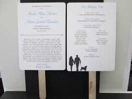 fan style wedding programs fan style wedding program with silhouette on backside wedding