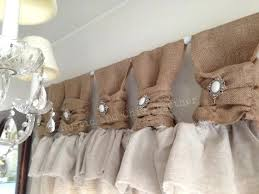 Smocked Burlap Curtains Burlap And Lace Kitchen Curtains Country Style Burlap Lace Curtain