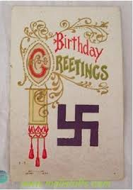 swastika in american antique greeting cards