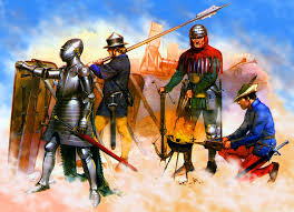 siege swiss german with gunner and swiss mercenary troop at a siege c
