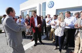 Barnes Crossing Hyundai Barnes Crossing Vw Celebrates New Facility Business Djournal Com