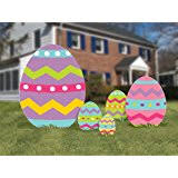 outdoor easter decorations easter yard decorations flat hanging easter eggs