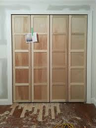 How To Build Bi Fold Closet Doors Paneled Bi Fold Closet Door Diy Closet Doors Doors And Fancy