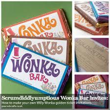 wonka bars where to buy scrumdiddlyumptious wonka bar invites how to make your own willy
