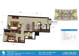 floor plan of gate tower 1 al reem island