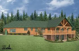 ranch style log home floor plans custom log home plans home design plan