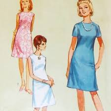 pattern a line shift dress a line shift dress french darts 1960s pattern simple dressy