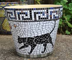 garden mosaic ideas stained glass u0026 tile mosaic garden container black