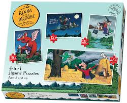 paul lamond 4 in 1 room on the broom puzzle amazon co uk toys