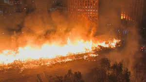 Sigalert Com Los Angeles Traffic Map by Massive Fire Shuts Down 110 Freeway Near Downtown La Nbc