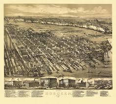 Map Of Jersey City 24x36 Vintage Historic Map Hoboken New Jersey 1881 Hudson Ebay