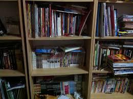 messy bookshelves imappyon