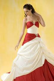 two toned ruched sweetheart v neck long strapless a line white