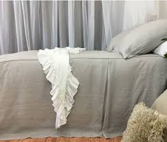 Light Grey Bedspread by Stone Grey Bedspread With Tailored Pleats Box Pleat Bed Cover