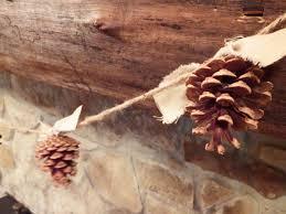 pinecone garland 6ft pinecone garland fall decoration mantel decor 6