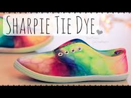 diy sharpie tie dye shoes rainbow sneakers how to i just