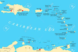 Haiti Map Lesser Antilles Political Map The Caribbees With Haiti The