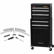 stanley tool chest cabinet stanley tool chest 75 piece accessories kit tool boxes bags