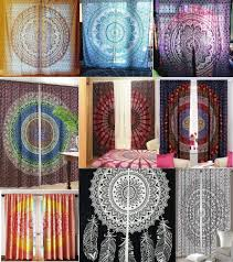 Hippie Curtains Drapes by Indian Mandala Curtains Hippie Wall Drapes Bohemian Door Window