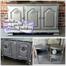 martha stewart metallic paint for furniture rocks the shine