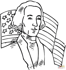 george washington first president of the usa coloring page free
