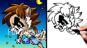halloween easy drawings draw halloween werewolf