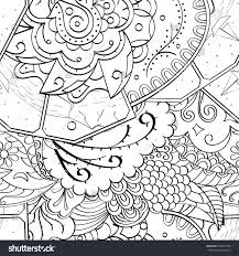 tracery seamless calming pattern mehndi design stock vector
