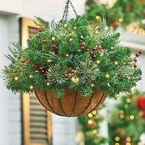 christmas hanging baskets with lights best christmas hanging baskets with lights outdoor and indoor