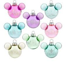 mickey mouse glass ornament set disney holidays